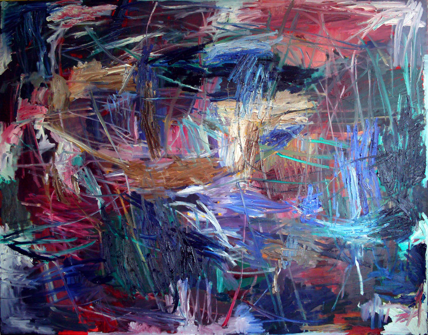 Ryder oil on canvas, 240x300cm 2013, Raymond Cuijpers