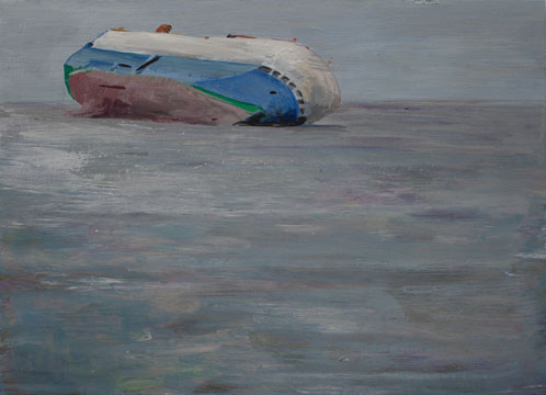 Baltic Ace 21x29cm acrylic on wood 2013, Jacco Olivier